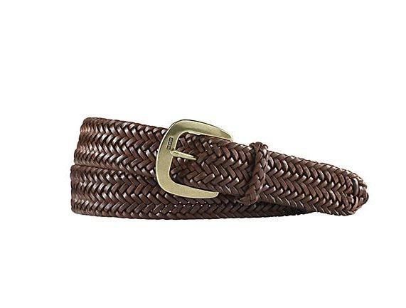 Polo Ralph Lauren 經典編織 皮革 皮帶 金屬扣 Logo