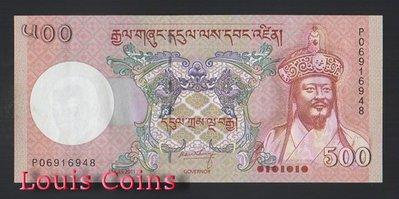 【Louis Coins】B723-BHUTAN--2011不丹紙幣500 Ngultrum
