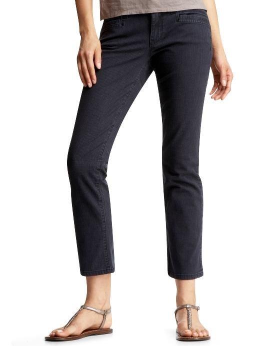 【美衣大鋪】☆ GAP 正品☆Slim crop pinstripe pants 美褲