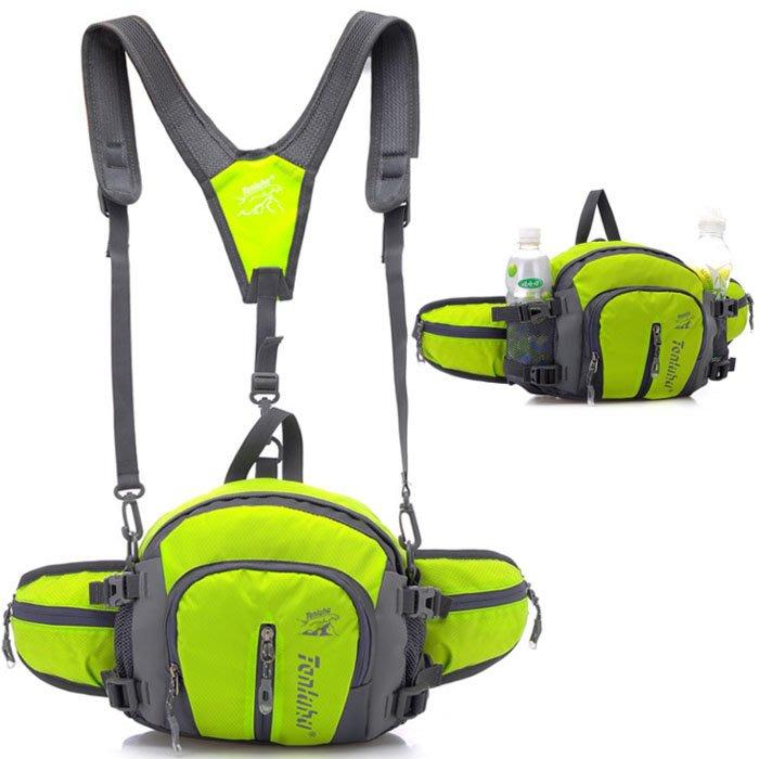 探路虎 韓版潮流運動包腰包 戶外多功能腰包 大容量旅遊登山包 男女雙肩包