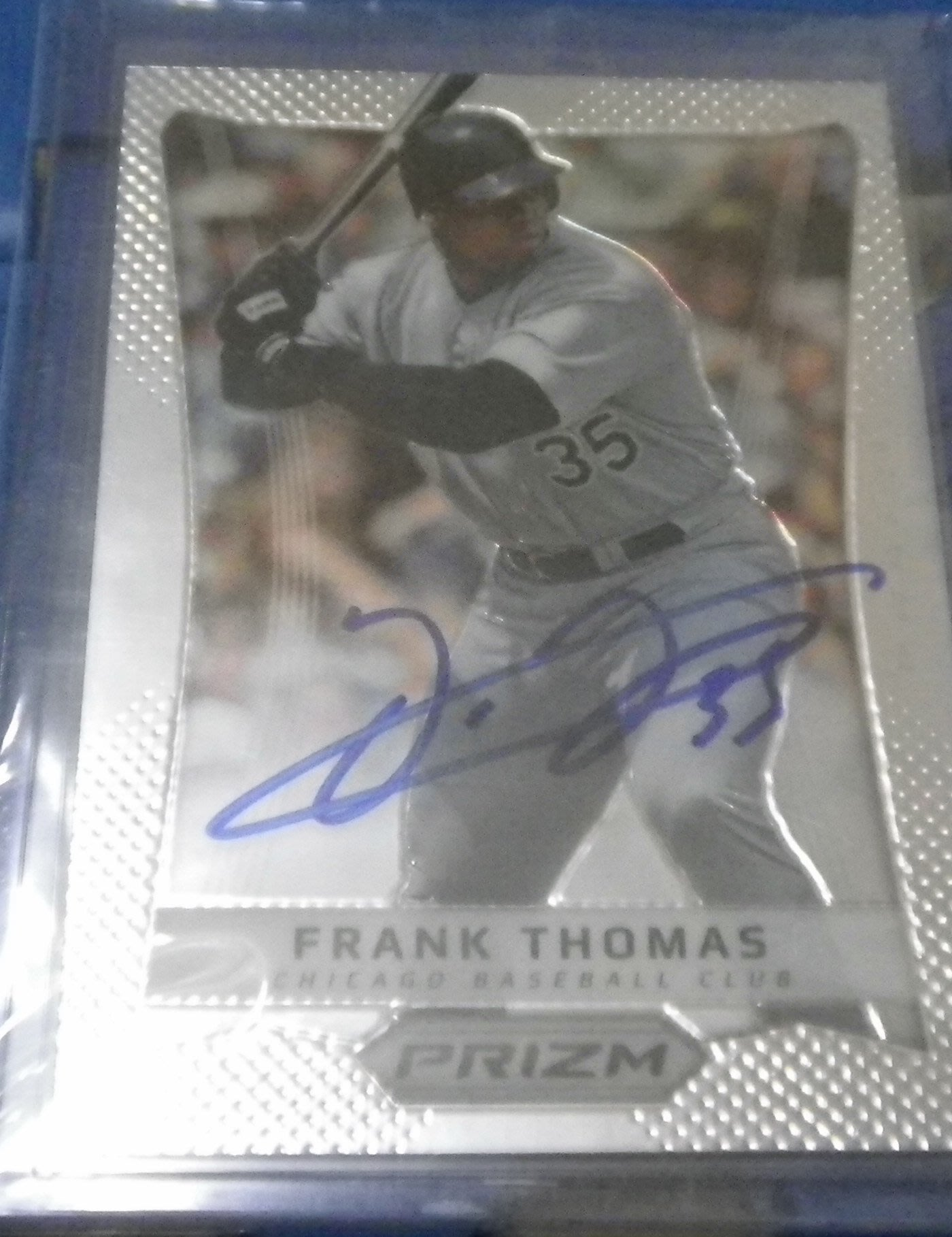 棒球天地---賣場唯一--- 重傷害Frank Thomas 2012簽名球卡.字跡漂亮