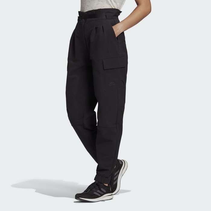 【Dr.Shoes 】Adidas STYLE NEW 大口袋 休閒 工作褲 工裝風運動褲 黑色 女款 GR3738