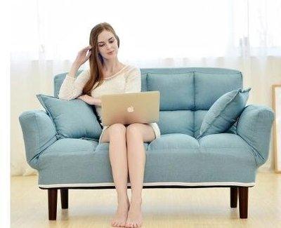 懶人沙髮椅可躺休閒臥室雙人可拆洗折疊沙髮床小戶型客廳沙髮椅子 YTL