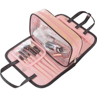 化妝包 超夯同款化妝包手提洗漱包便攜多功能收納袋隨身少女心化妝包