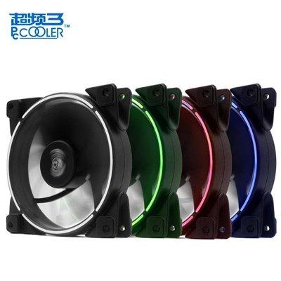 超頻三 皓月12cm機箱風扇 日食LED靜音 臺式電腦機箱 散熱器風扇zg【全館免運】