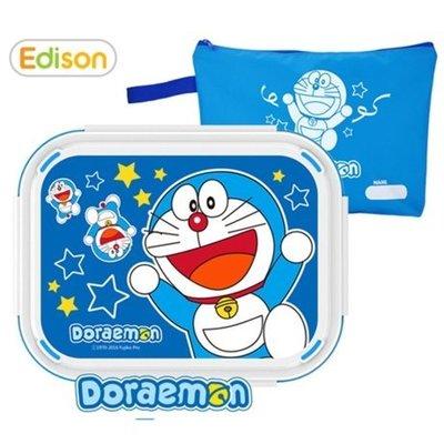 ♀高麗妹♀韓國 Doraemon ドラえもん 哆啦A夢 不鏽鋼/雙層隔熱可分拆 五分格餐盤.便當盒.附手提收納袋(預購)