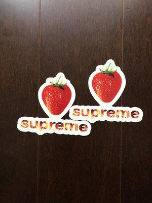 ☆AirRoom☆【現貨】SUPREME Strawberry Sticker 草莓 貼紙 box logo