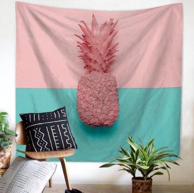 掛毯 掛布 直播布 背景布 掛飾北歐彩色菠蘿仙人掌掛布墻壁裝飾毯掛毯墻面布背景布隔斷簾桌布