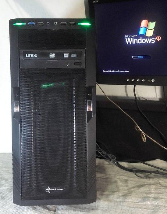 【窮人電腦】自組華碩雙核工業主機跑Windows XP系統!桃園中壢以北可外送!外縣可寄!