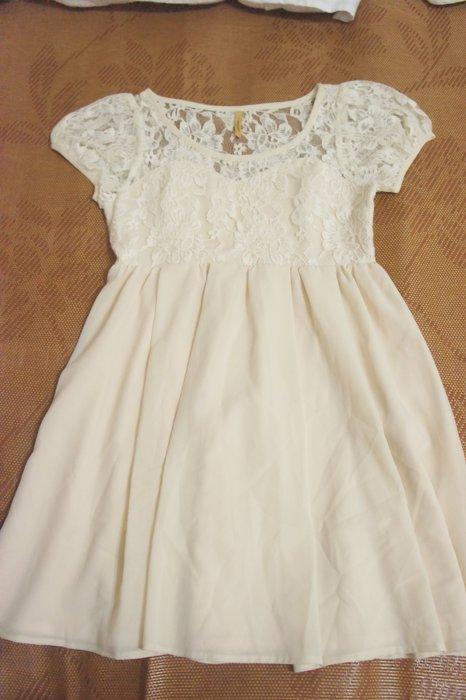 B557 - (全新) Royal Party 日本購入- 假兩件蕾絲可愛洋裝