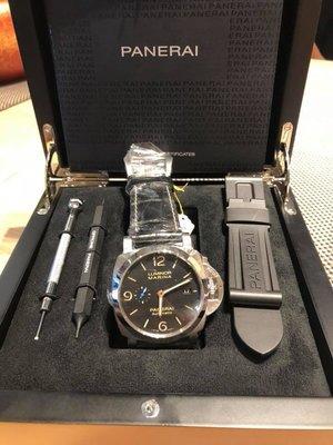 【永誠鐘錶】全新品PANERAI沛納海PAM1312藍色小秒針 錶背透明~(實體店面)