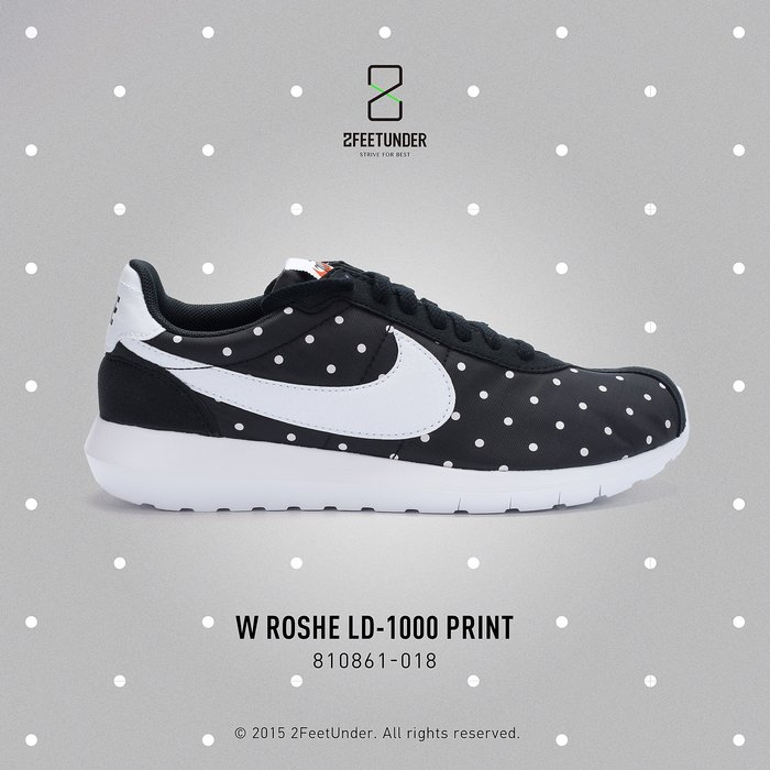 2FeetUnder - Nike WMNS Roshe LD-1000 QS 黑白 點點 女段 810861-018