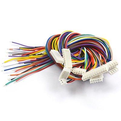 雜貨小鋪 XH2.54 電子線 端子線 單頭鍍錫 30CM彩排線連接線2/3/4/5/6/10P
