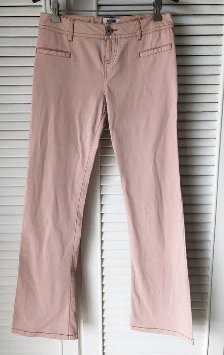 Moschino 櫻花🌸粉直筒長褲