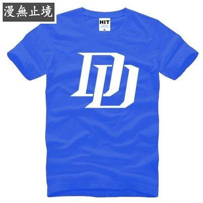 漫無止境 男式短袖T恤 超膽俠 美劇 Daredevil DD LOGO ebayy