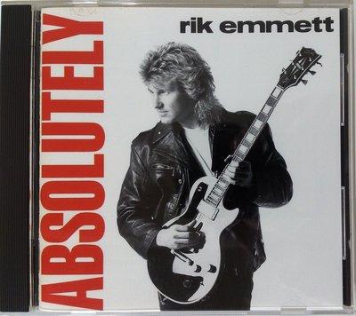 Triumph吉他手 Rik Emmett - Absolutely 二手日版