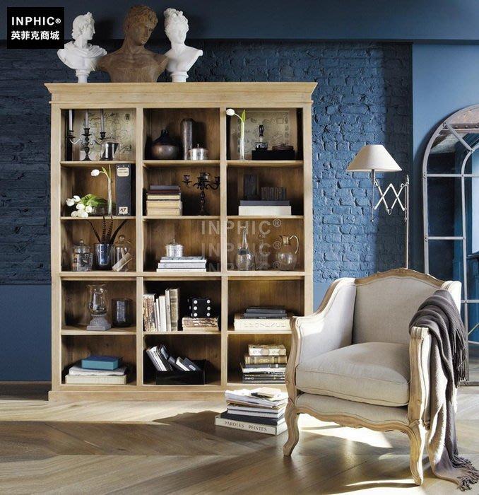 INPHIC-新款 法式鄉村橡木美式椅實木 臥室椅 單人沙發_Y328