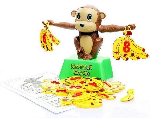 【現貨】益智桌遊 猴子香蕉數字天平