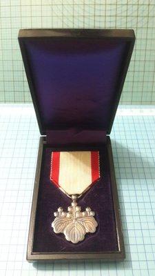 5182日本勳八等白色桐葉銀章