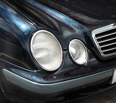 《※金螃蟹※》賓士 BENZ CLK - W208 1997~2002年 系列 鍍鉻 大燈框