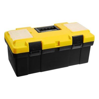 【TRENY直營】TRENY 加厚工具箱-19吋-黃黑 耐重 手提箱 多功能 零件盒 手工具 DIY 8149