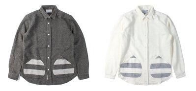 { POISON } LESS L/S MEDIUM SPREAD COLLAR POCKET SHIRT 日本製襯衫