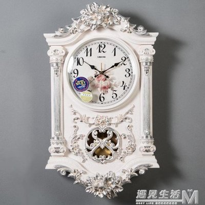 石英鐘表時鐘美式掛鐘客廳歐式個性創意時尚大氣豪華裝飾掛表家用    全館免運