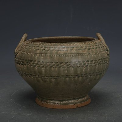 ㊣姥姥的寶藏㊣ 西晉越窯原始青瓷全手工雙系罐子  出土文物古瓷器古玩古董收藏
