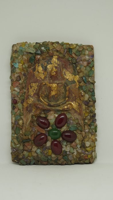 (希瓦利佛牌殿) 2401 凱薩崇迪 玉佛寺 阿贊多頌經加持 10.7x7.5x1.5cm