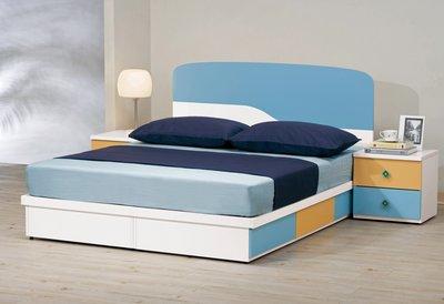 [歐瑞家具] CH137-2 艾文斯5尺床片型雙人床/大台北地區/系統家具/沙發/床墊/茶几/高低櫃/1元起