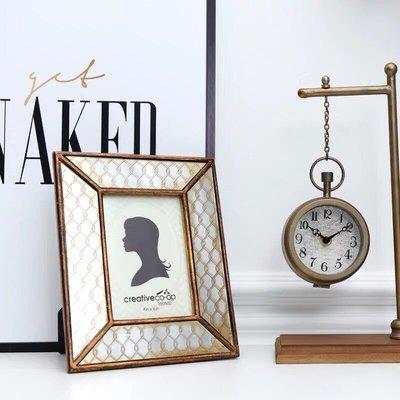 【Eze Art Deco】美國設計師傢飾,美式 古金色樹酯仿古鏡面相框 婚禮佈置 攝影道具 送禮 擺飾 牆面裝飾