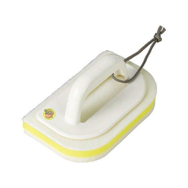 【JPGO】日本進口 LEC 激落君 附手把 浴室清潔刷 浴廁清潔海綿 S-799 #995