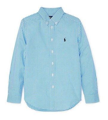 Ralph Lauren POLO 大男童 襯衫 車繡 小馬 天空藍