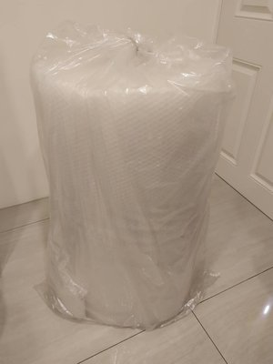 防震膜袋泡泡膜氣泡紙膜卷裝珍珠棉泡沫紙-庫存用不完便宜賣-整筒量 高92公分上方圓直徑42公分左右