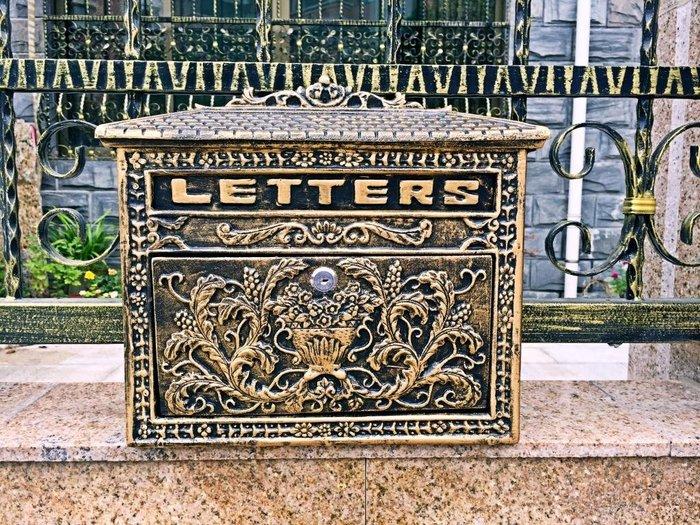 爆款歐式別墅信箱 信報箱 復古報筒郵箱熱賣郵筒