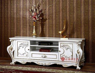 [紅蘋果傢俱] F108K 宮廷凡爾賽系列 頂級進口 歐式電視櫃 法式TV櫃 新古典 地櫃