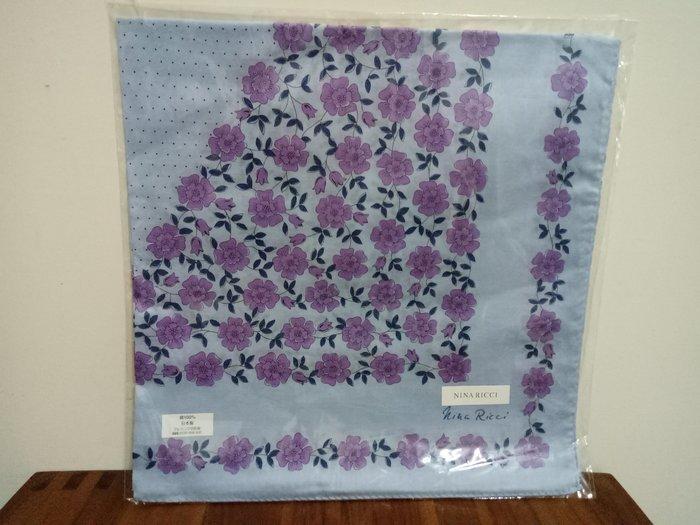 天使熊雜貨小舖~日本帶回NINA RICCI手帕 純棉方巾  日本製  全新現貨