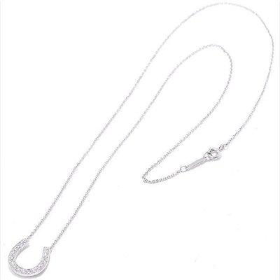 Tiffany&Co 馬蹄鑽石鉑金項鍊