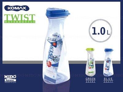 《Midohouse》KOMAX『韓國高美斯20377三立方水瓶』(藍色) 1000ml