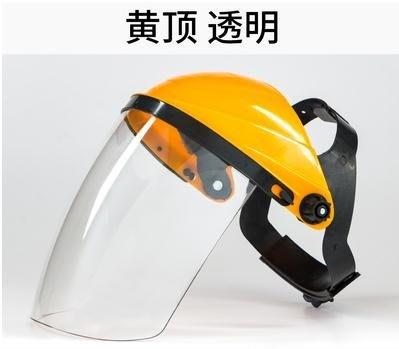 電焊面罩PC有機玻璃電焊面罩燒焊工防護面罩頭戴式氬弧焊氣保焊半透明 全館免運