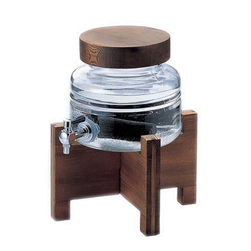 ☘小宅私物☘ ADERIA 日本製附木架燒酌瓶 2L 玻璃冷水壺 飲料壺 附專屬木架