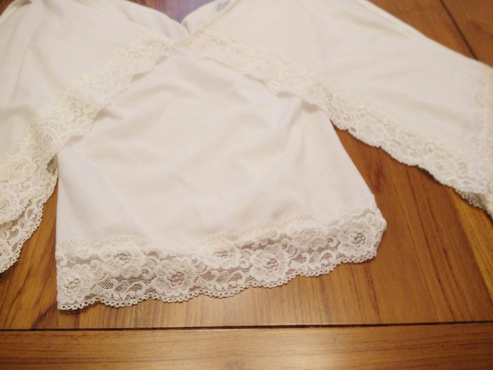 1元起標品牌白色 純棉公主袖飄逸 蕾絲短版上衣