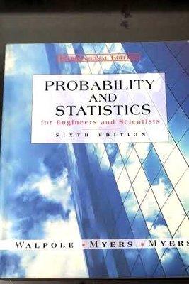 二手原文書 Probability and Statistics for engineers and scientist