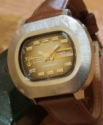 TELUX 鐵力士 40mm大錶徑 按壓日期快調(正常) 自動上鍊機械錶*全正常 行走準確