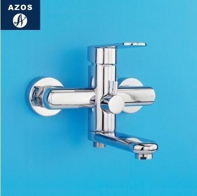 【優上】浴缸水龍頭淋浴花灑套裝全銅冷熱帶下出水 噴頭淋雨混水閥「單龍頭主體圓形」