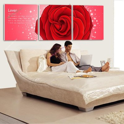 【50*50cm】【厚1.2cm】浪漫單朵玫瑰-無框畫裝飾畫版畫客廳簡約家居餐廳臥室【280101_091】(1套價格)