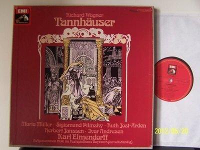 【EMI LP名盤】1733-1.華格納:唐豪瑟,Elmendorff/拜魯特節慶管弦樂團,3LPs,1930年拜魯特歷史錄音