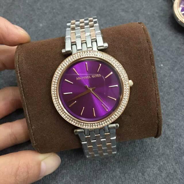 【Michael Kors代購館 】美國正品MK3353 防水手錶 不鏽鋼鑲鑽錶圈女錶 超薄錶盤腕錶 促銷活動價