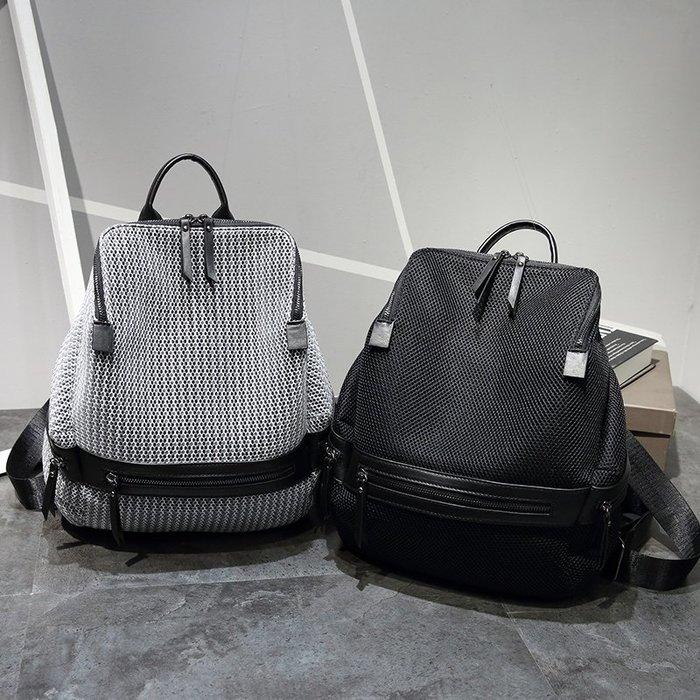 雙肩包女 新款韓版 百搭旅行包 簡約大容量 旅遊時尚個性背包 潮大包【May Cool】