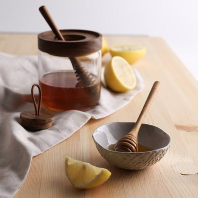 百老匯di-家具-BATREE CYNOSURE HONEY JAR 325CC 蜂蜜罐 ACACIA (ST006H)